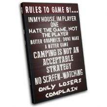 Gaming COD House Rules Typography - 13-2365(00B)-SG32-PO